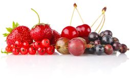 Still life of berry. On white background Royalty Free Stock Photo