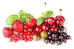 Still life of berry. On white background Royalty Free Stock Image