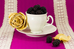 Still life with blackberries Royalty Free Stock Image