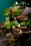Still life with blank wine Royalty Free Stock Images