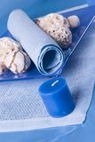 Still life in blue Royalty Free Stock Image