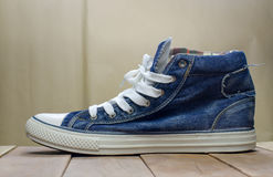 Still Life blue mens boots. Royalty Free Stock Photos