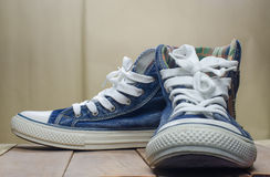 Still Life blue mens boots. Royalty Free Stock Photo