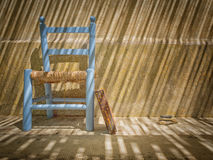 Still life with book and chair Royalty Free Stock Photos