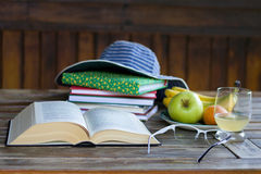 Still life with a book stock photography