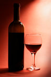 Still-life with bottle of red wine royalty free stock photos