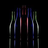 Still life of bottles of wine. Royalty Free Stock Photos