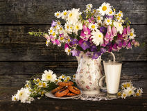 Still life with bouquet royalty free stock images