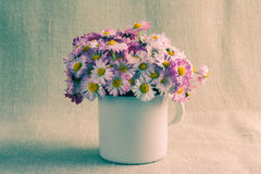 Still life bouquet daisies Royalty Free Stock Images