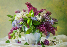 Still Life bouquet lilacs. Still Life with a bouquet of lilacs Stock Images