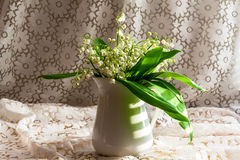 Still life bouquet lily valley Royalty Free Stock Images
