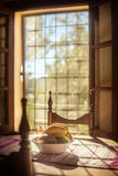 Still life. Bowl of fruit in front of window romantic old master style painting feeling warm Stock Photos