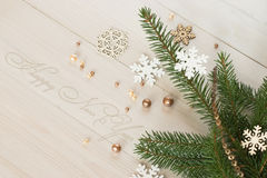 A still-life with branches of a Christmas tree. Royalty Free Stock Photography
