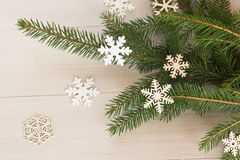 A still-life with branches of a Christmas tree. stock image