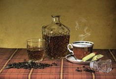 Still life with brandy Stock Images
