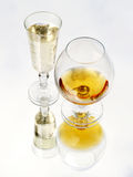 Still life with brandy glass Stock Photography