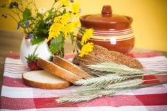 Still life with bread Stock Photos