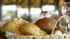 Still life of bread baking. And sweet buns, food background close-up Stock Photography