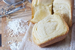Still life of bread, flour, kitchen Stock Photography