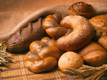 Still life of bread, loaves, bread. Royalty Free Stock Photos