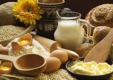 Still life of bread preparing Stock Photos