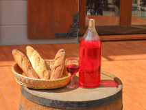 Still life with bread and wine Stock Image