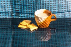 Still Life breakfast , Coffee Cup  White Butter Stock Photography