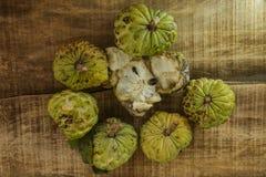 Still-life of Broken and Unbroken Sugar-apples Stock Image