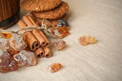 Still life with brown sugar Royalty Free Stock Photos