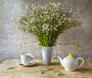 Still life bunch small white florets china Stock Image