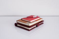 Still life, business, education concept. Pen with notebook on a Royalty Free Stock Images