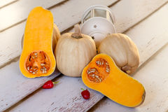 Still Life With Butternut Squash Royalty Free Stock Images