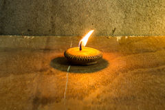 Still life - Candle in Loi Krathong Festival Stock Photography