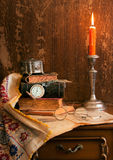 Still life with candle Royalty Free Stock Photo