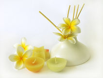 Still life with candles royalty free stock images