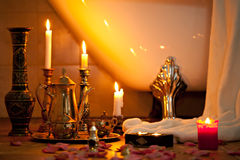 Still life with candles Stock Images