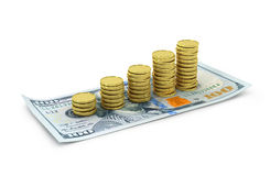Still Life with cash dollars Royalty Free Stock Photo