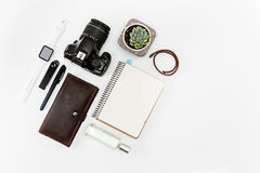 Still life of casual man. Modern male accessories. On white Royalty Free Stock Image