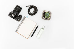 Still life of casual man. Modern male accessories. On white Royalty Free Stock Photography