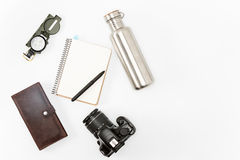 Still life of casual man. Modern male accessories. On white Royalty Free Stock Photo
