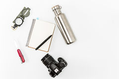 Still life of casual man. Modern male accessories. On white Royalty Free Stock Images