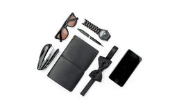 Still life of casual man. Modern male accessories on white Stock Photo