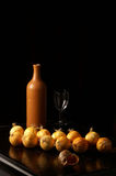 Still life from ceramic bottle Stock Photography