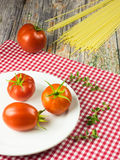Still life with characteristic ingredients of italian cuisine Royalty Free Stock Photos