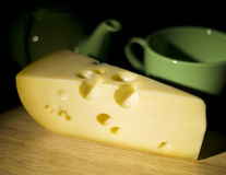 Still Life with cheese Stock Image