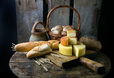 Still life with cheese Stock Photography
