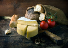 Still life with cheese Stock Images