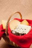 Still life  of cheese basket Stock Photo