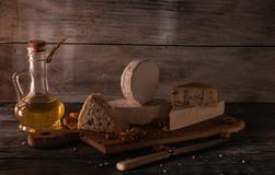 Still life with cheese. royalty free stock photo