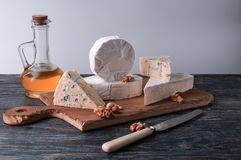 Still life with cheese. royalty free stock photos
